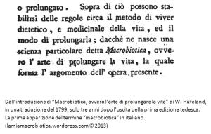 La macrobiotica di Hufeland